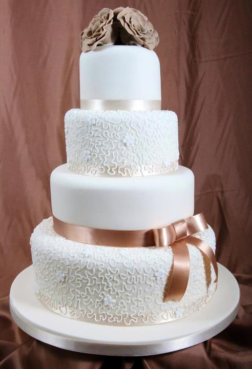 wedding cake designs - filigree